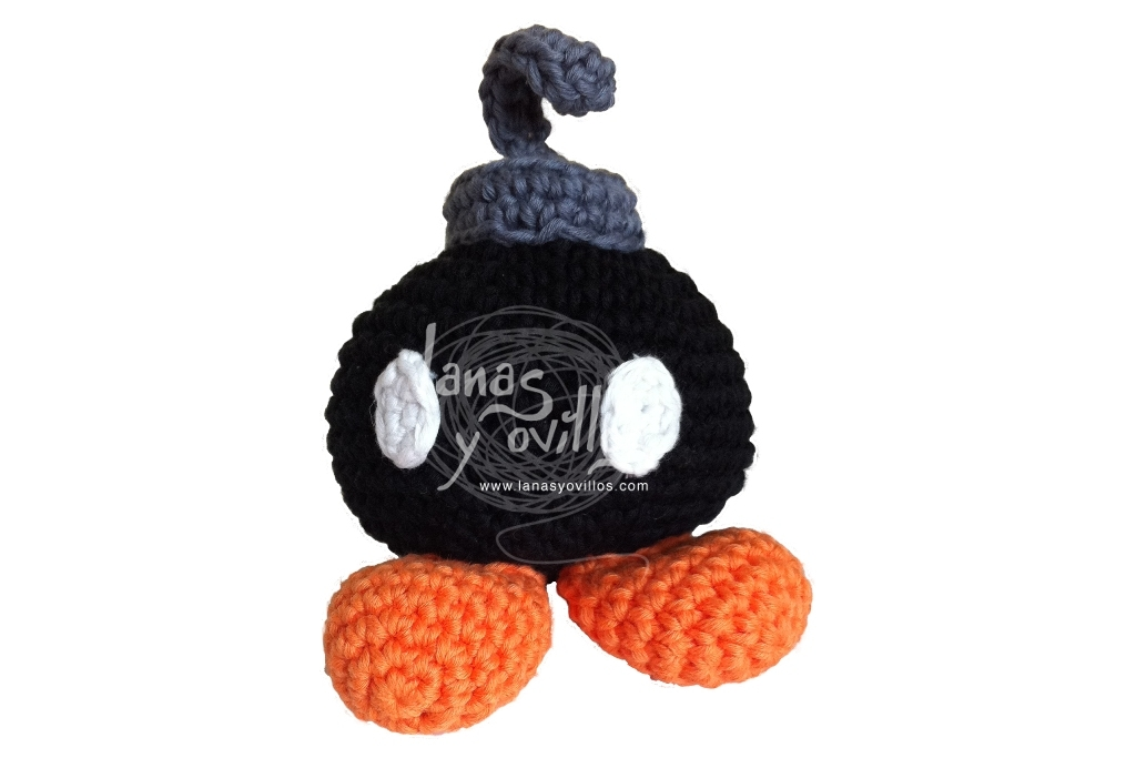 bomb bomb mario amigurumi free pattern with video tutorial step by step