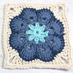 crochet african flower granny square