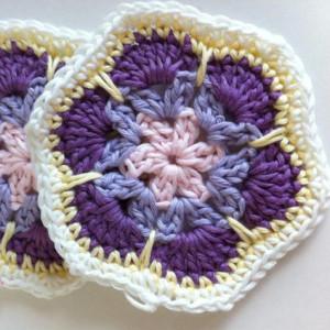 african flower hexagon free crochet pattern chart