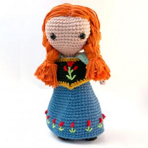 ana frozen crochet amigurumi free pattern
