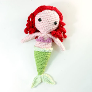 ariel mermaid disney little princess crochet amigurumi free pattern