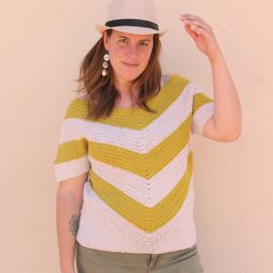 arrow blouse crohcet free pattern