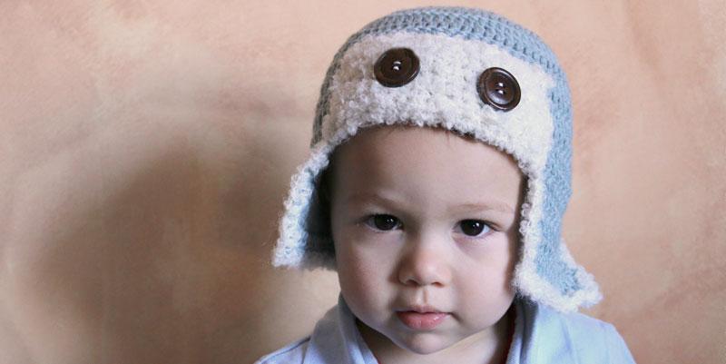 aviator hat crochet baby free pattern