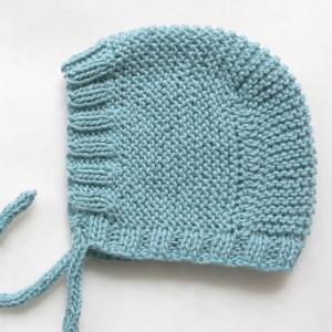 baby bonnet knitting pattern free