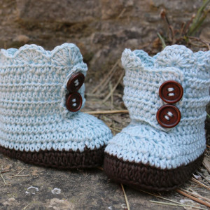 baby boots booties crochet free pattern