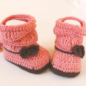 baby crochet booties free pattern