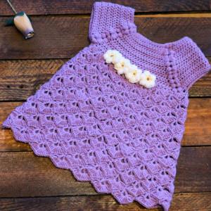 baby crochet girl dress free pattern