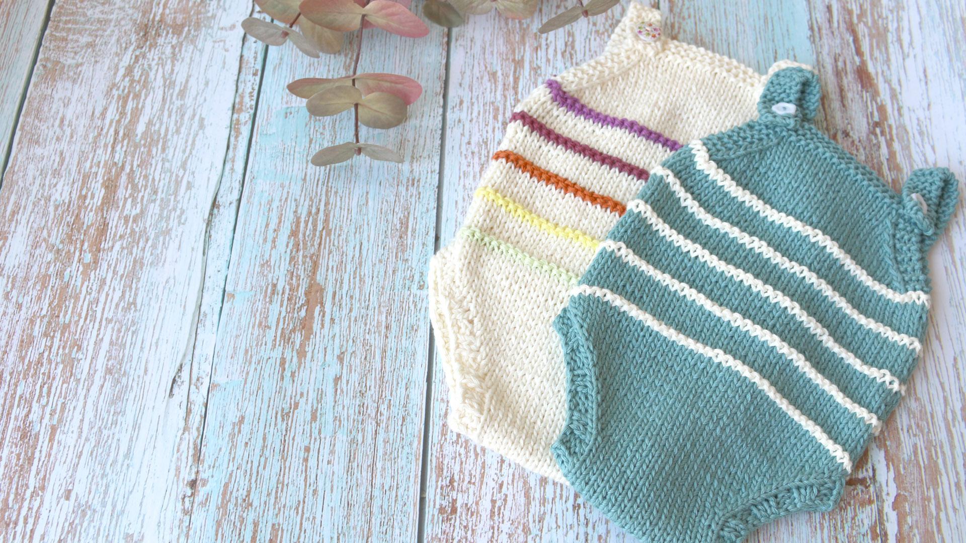 baby knitting onesie free pattern