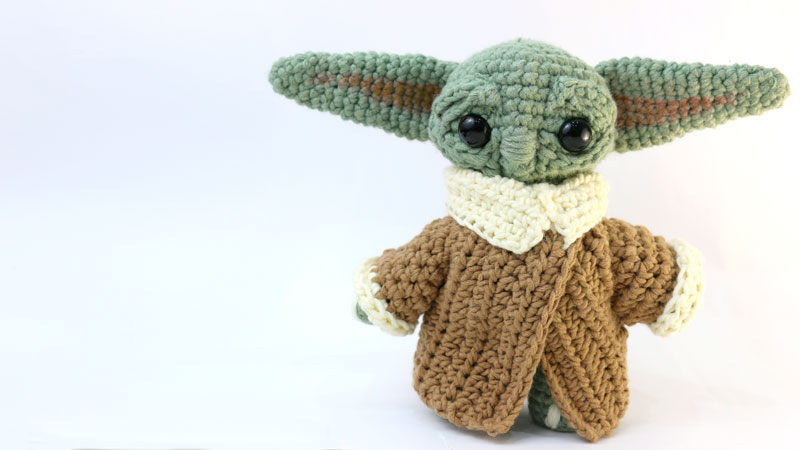 baby yoda amigurumi free pattern crochet