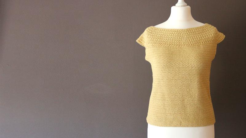 star stitch blouse free crochet pattern