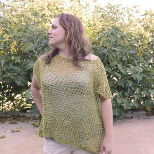 lace blouse free knitting pattern