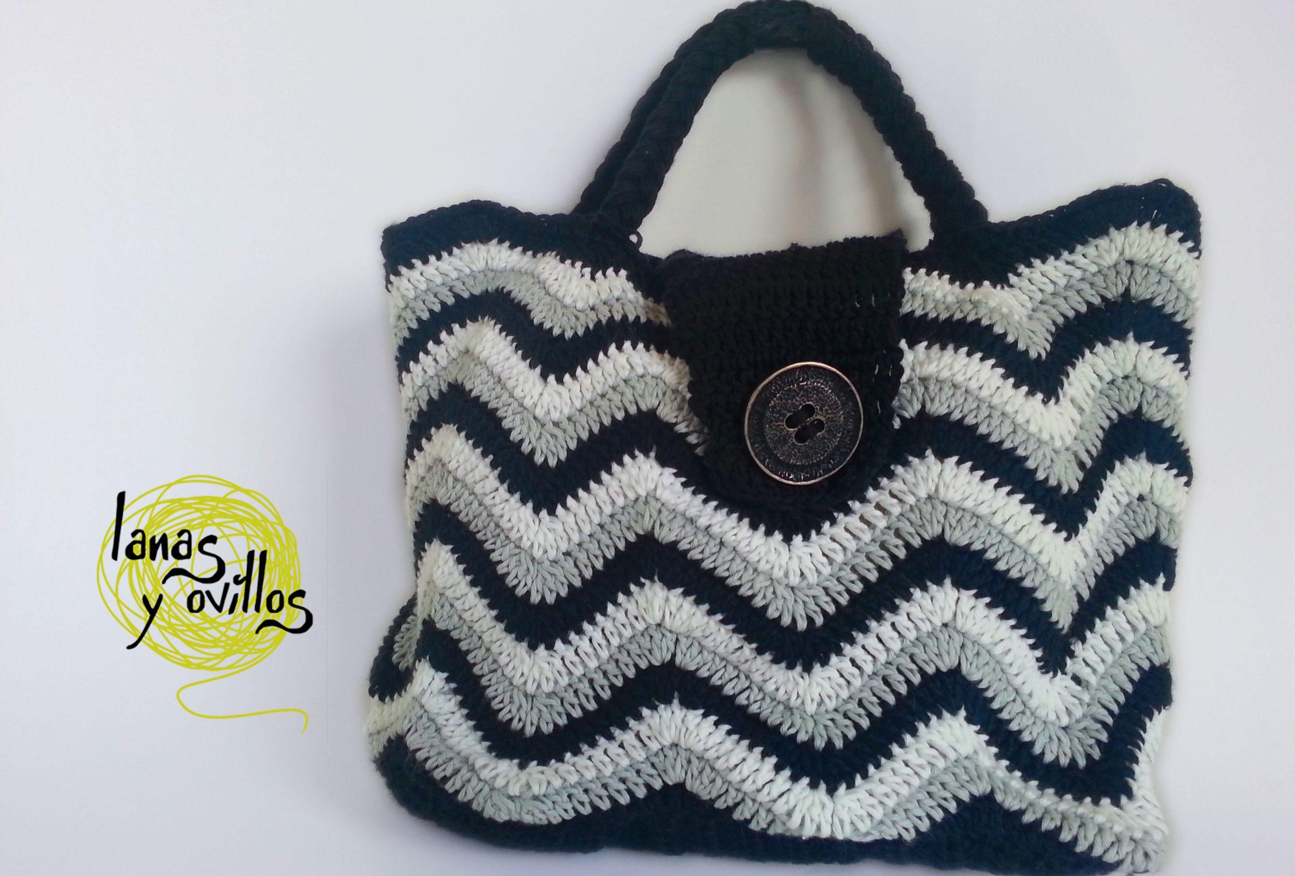 chevron bag crochet free pattern
