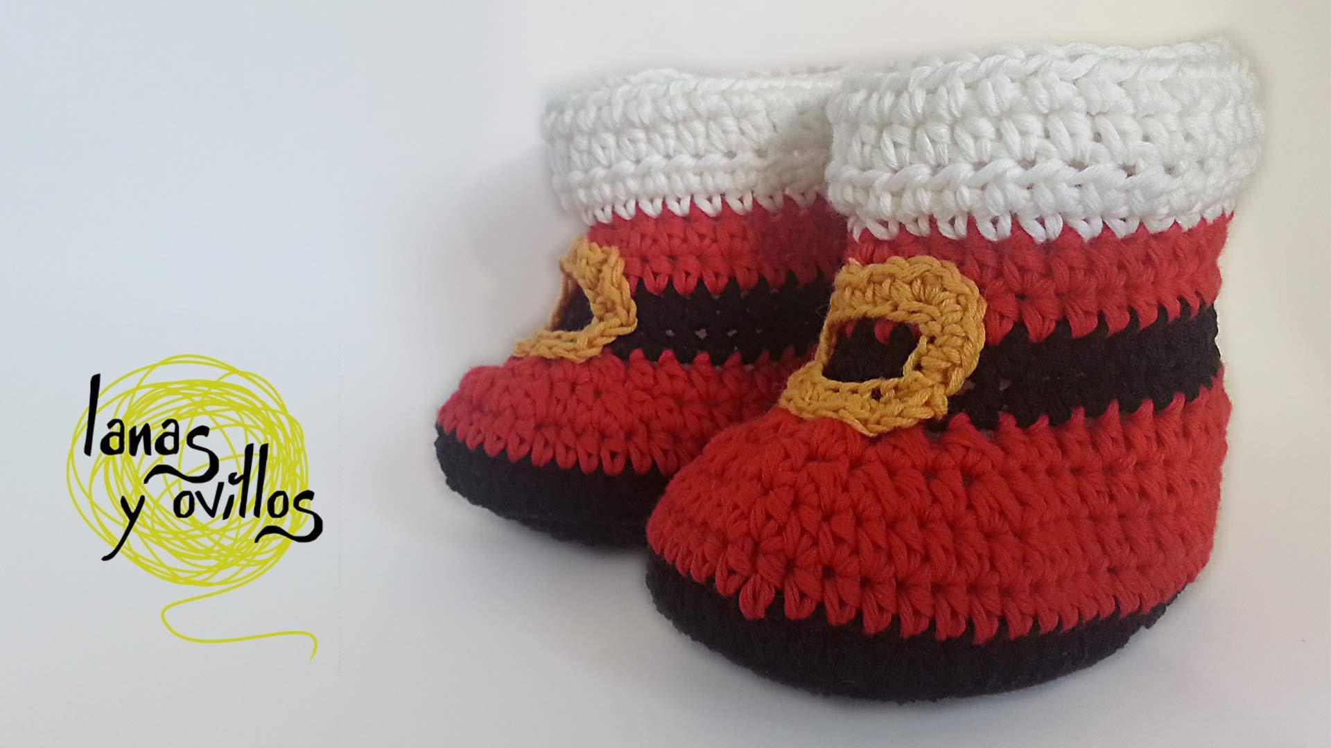 baby santa claus boots crochet free pattern