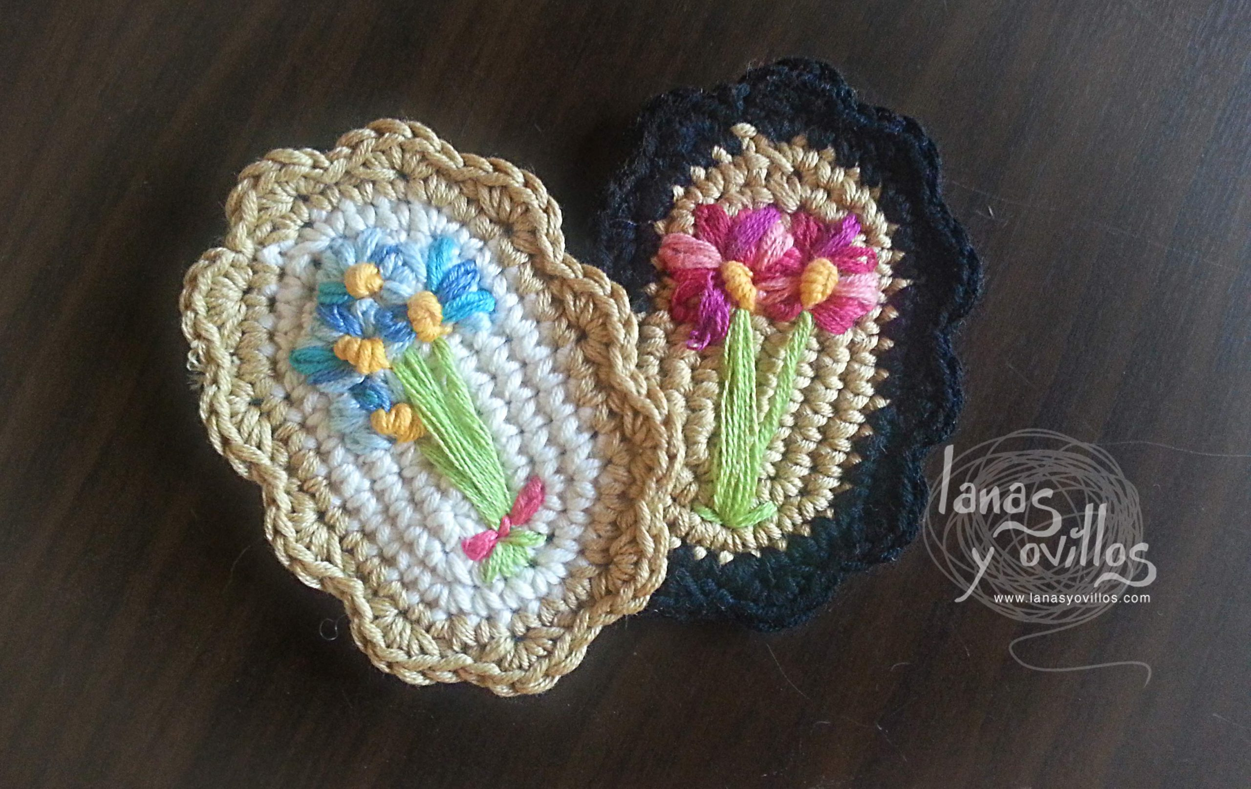 brooch vintage crochet free pattern with video tutorial