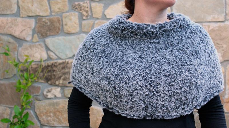 cape winter knitting free pattern