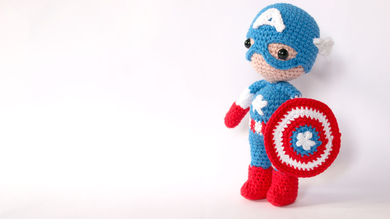 captain america free pattern amigurumi crochet