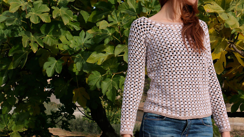 granny stripes pullover cardigan free crochet pattern