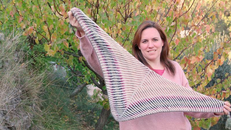 brioche knitting triangular shawl free pattern