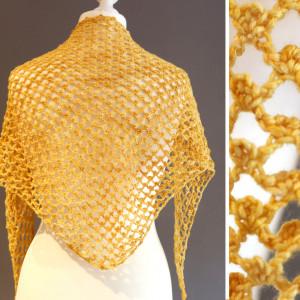 lace crochet shawl free pattern