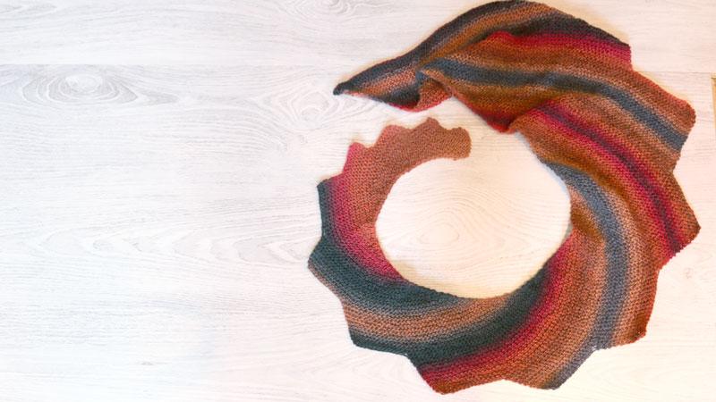 dragontail knitting shawl free pattern