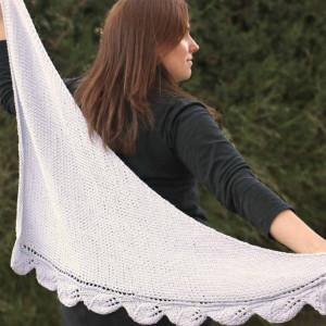 knitting leafs shawl free pattern