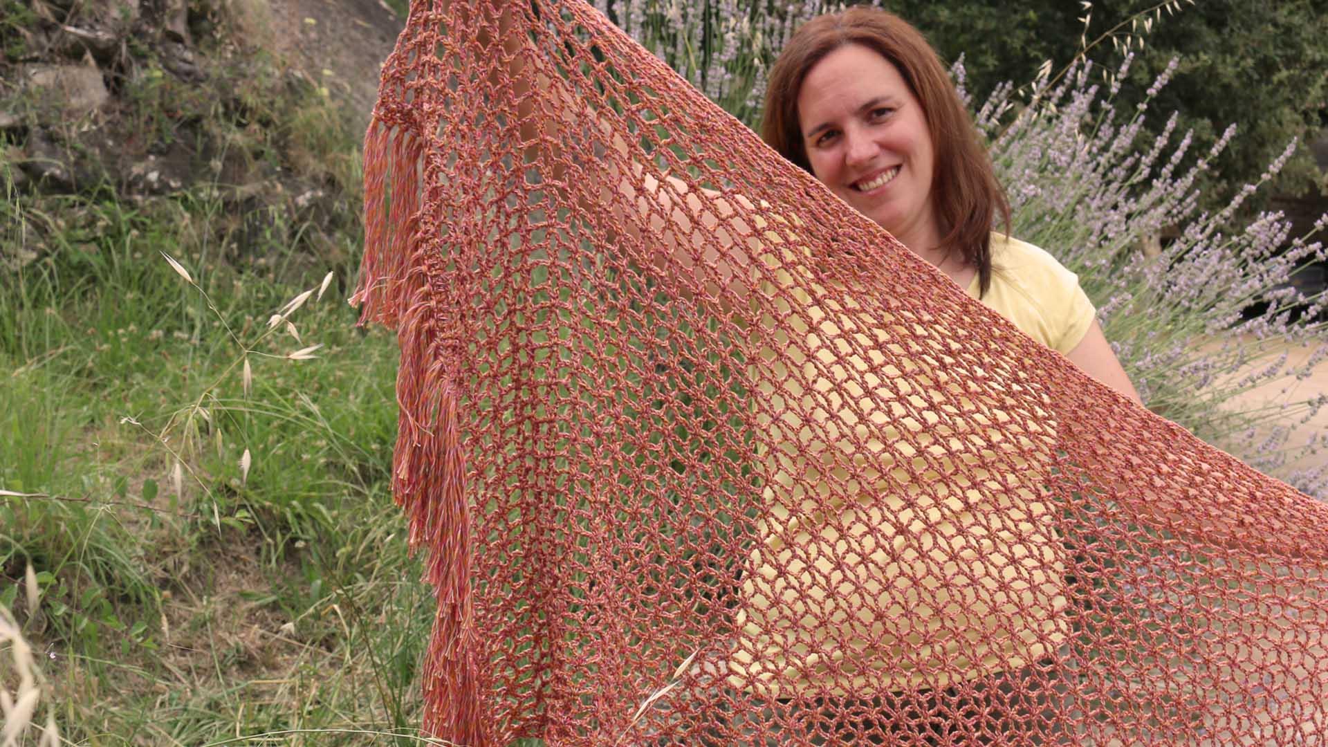 crochet lace shawl star stitch free pattern