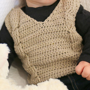 baby crochet vest cables free pattern