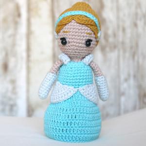 cinderella princess disney amigurumi crochet free pattern