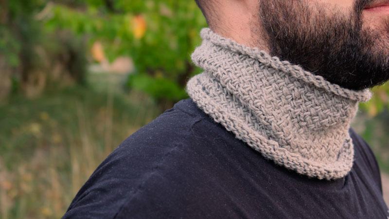 circle scarf unisex man free knitting pattern