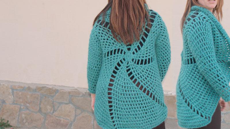 circular jacket free crochet pattern