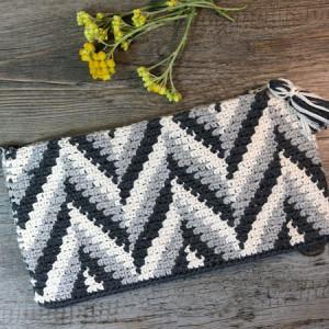 clutch tapestry crochet free pattern