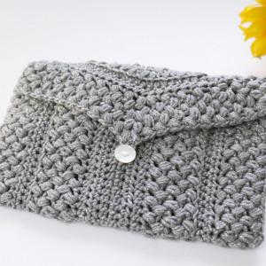 clutch mako bag crochet free pattern