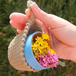 macetero colgante crochet plant holder free pattern