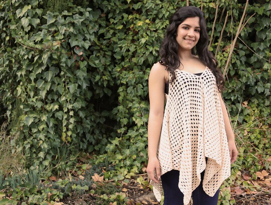 blouse granny squares free crochet pattern