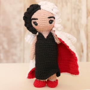 cruella de vil amigurumi villains crochet free pattern