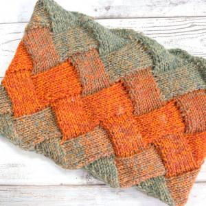 entrelac circular scarf knitting free pattern