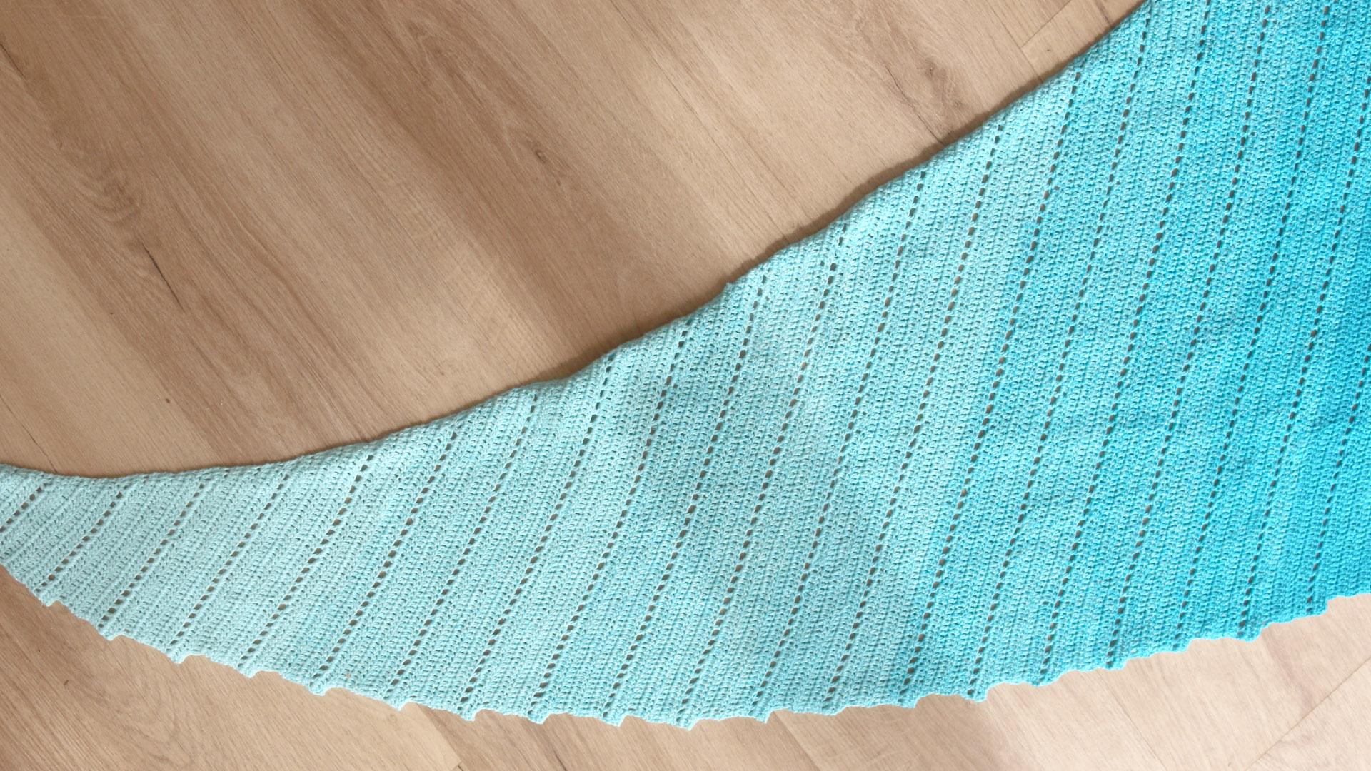 dragon tail shawl crochet free pattern