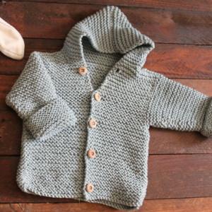 easy knitting hoodie basic free pattern