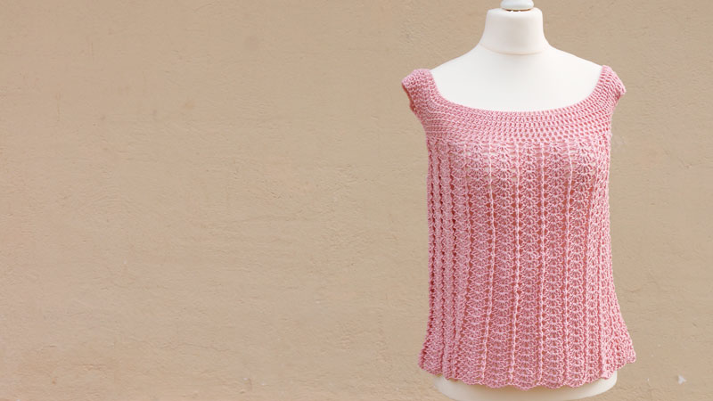 easy crochet blouse free pattern