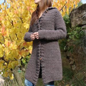easy crochet jacket free pattern