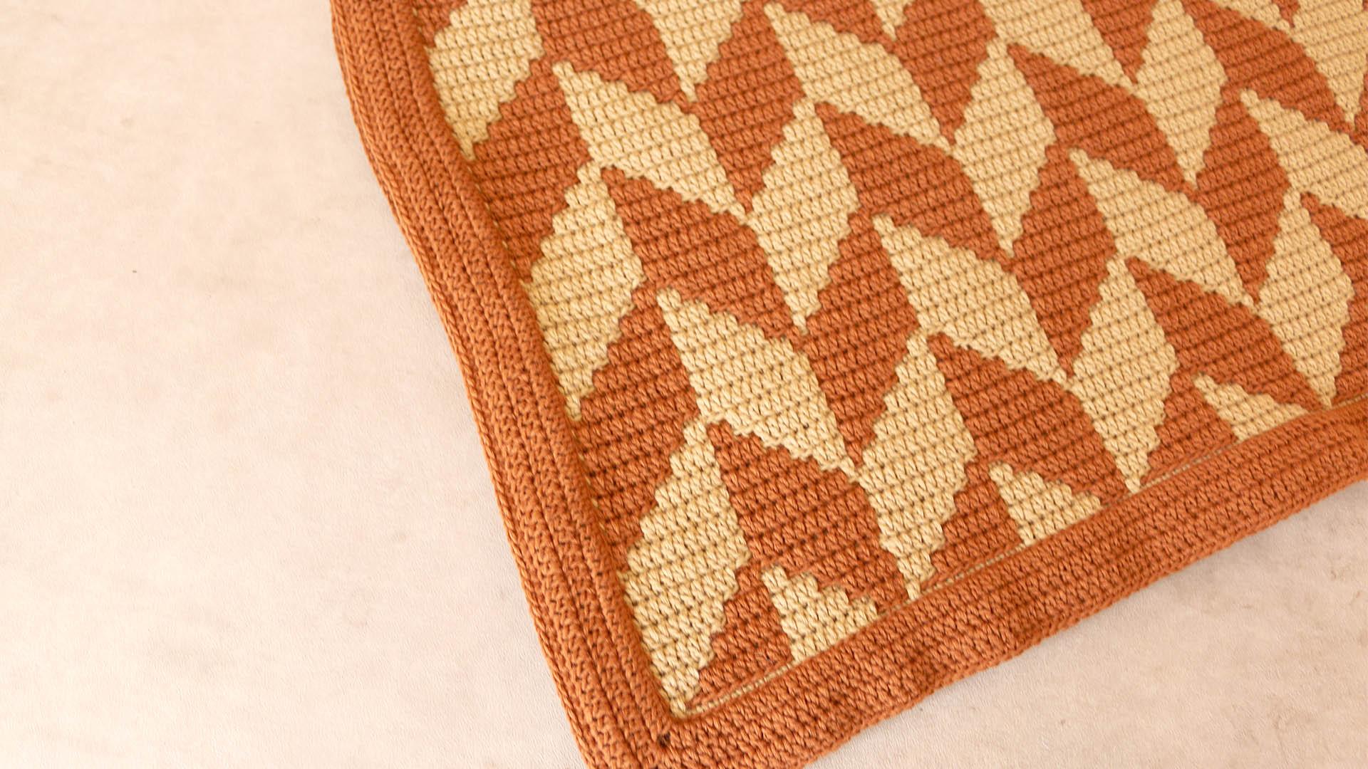 fox mosaic crochet blanket free pattern