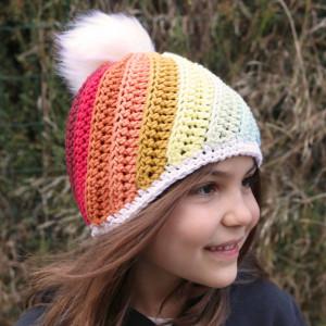 lollypop crochet hat free pattern