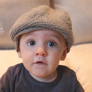 baby crochet beret hat free pattern