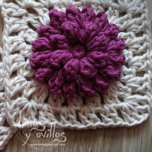 free pop corn granny square crochet