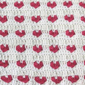 heart stitch crochet free pattern