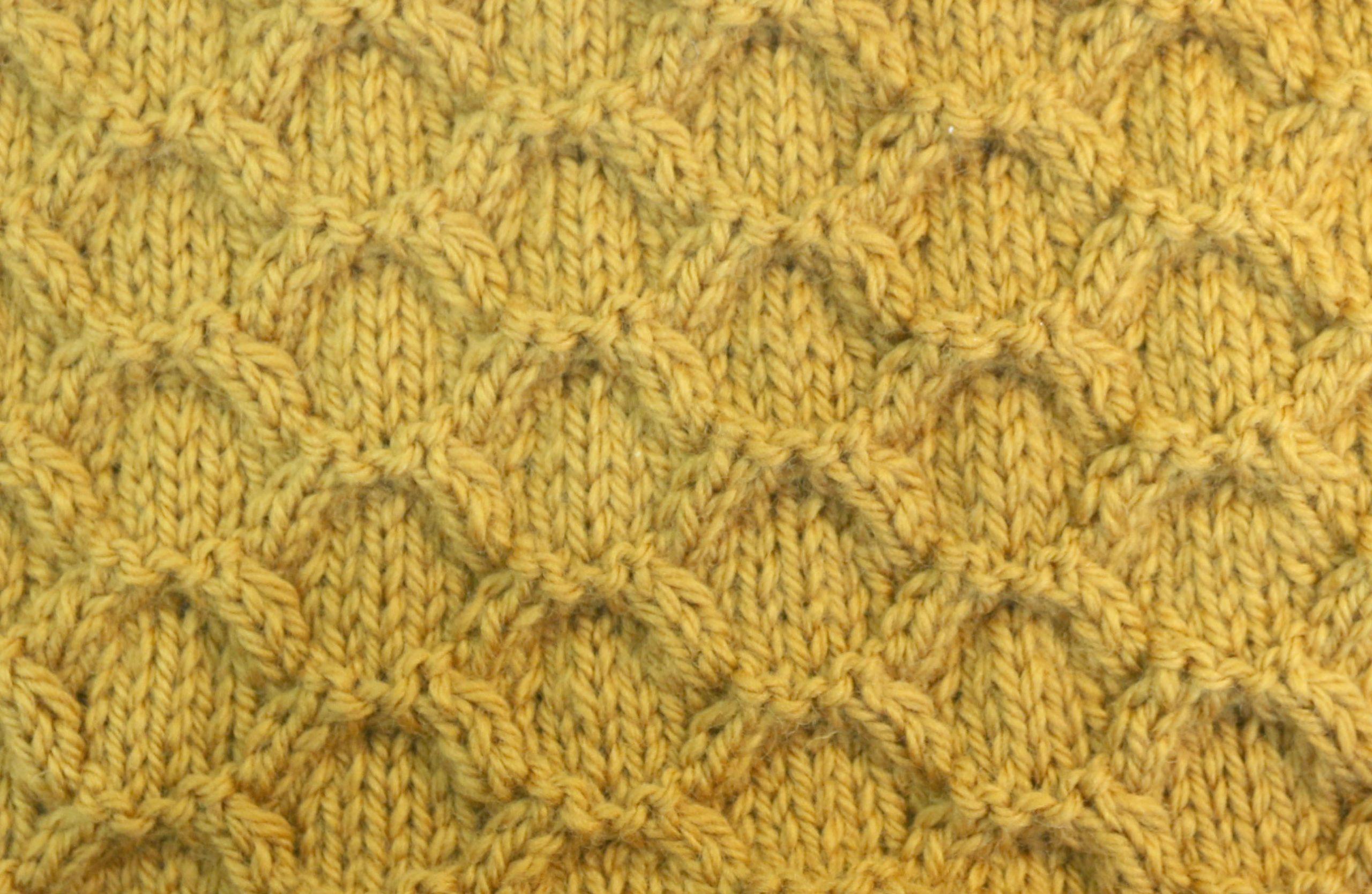 honeycomb knitting free pattern
