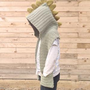 hooded scarf dinosaur free crochet pattern