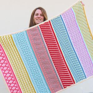 penelope blanket mosaic crochet free pattern