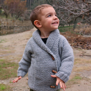 crossed knitting baby child jacket free pattern