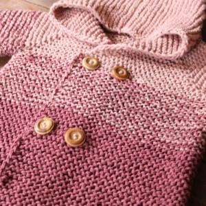 baby jacket degrade free knitting pattern
